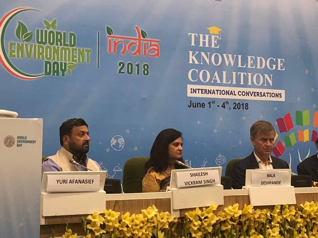 Shailesh Vickram Singh at World Environment Day 2018 UNEP