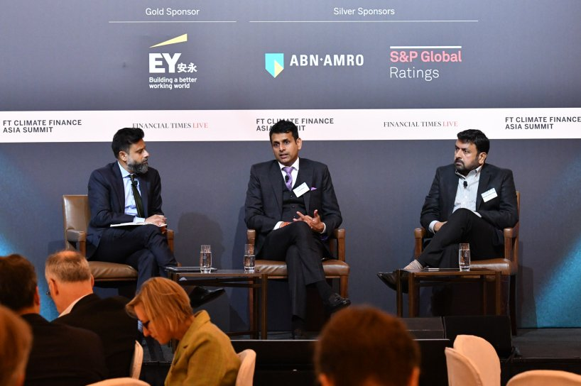 Shailesh Vickram Singh speaking at Financial Times Climate Finance Aisa Summit 2018, Hong Kong